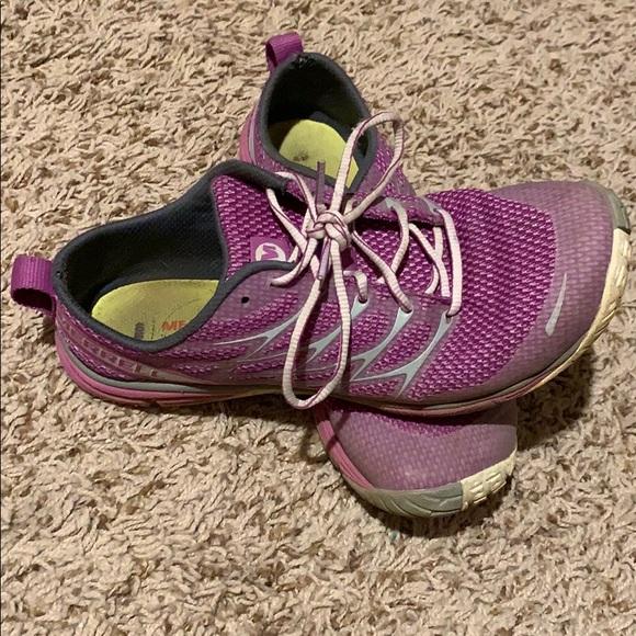 save off a0dec 9607e Purple Merrell minimalist shoes